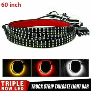 60inch Truck Tailgate Led Light Bar Brake Reverse Turn Signal Stop Tail Strip