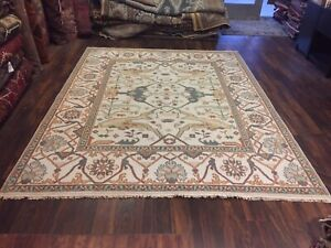 On Sale Genuine Hand Knotted Indo Oushak Geometric Area Rug Carpet 8 X10 2 78