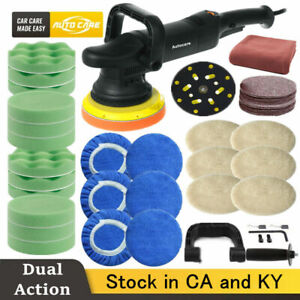 Dual Action Car Polisher Buffer Sander 6 Variable Speed Wax Tool Polishing Kit