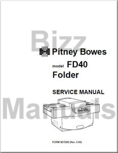 Pitney Bowes Repair Service Parts Manuals Fd40 Folder