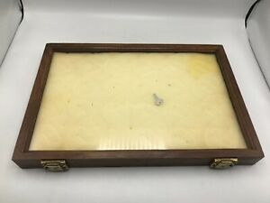 Vintage Wood And Glass Counter Display Case With Key