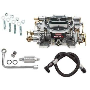 Edelbrock 1905 Avs2 Series 650cfm Carb With 8131 81233 Fuel Line