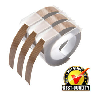 3pk Compatible For Dymo Embossing Label Maker Tape 3 8 9mm Wood Dymo Organizer