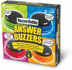 Learning Resources Recordable Answer Buzzers Personalized Sound Buzzers Talkin
