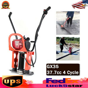 37 7cc Gasoline Engine Concrete Smoothing Machine Cement Screed 4 Stroke Gx35
