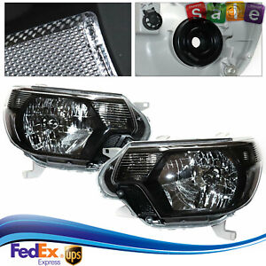 For 2012 2015 Toyota Tacoma Led Housing Headlights Headlamps Black Left right