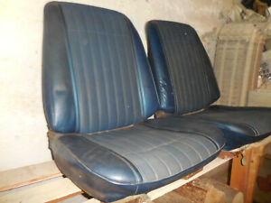 1970 Lemans Gto Front Buckets Rear Coupe Set Blue Upholstery Seat Covers Only
