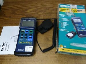 Extech 407026 Foot Candle lux Heavy Duty Light Meter W case