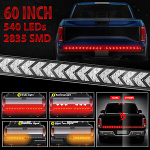 For Dodge Ram 60 Led Truck Strip Tailgate Light Bar Reverse Brake Turn Signal