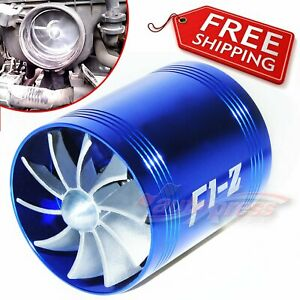 Double Air Intake Super Charger Gas Turbine Turbo Fuel Saver Fan Supercharger