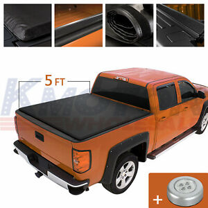 Roll Up Tonneau Cover 5ft Bed Waterproof Soft Vinyl For Toyota Tacoma 2016 2019