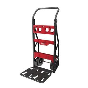 Milwaukee Packout 20 In 2 wheel Utility Tool Cart 400 Lbs Weight Capacity Steel