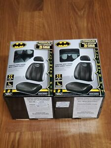 Dc Comics Batman Sideless Seat Cover With Cargo Pocket Quantity Of 2 Black