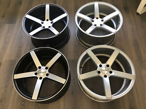 20 Vossen Cv3 5x120 20x9 20x10 5 Staggered 2 Silver 2 Black machine 4 Bmw Used