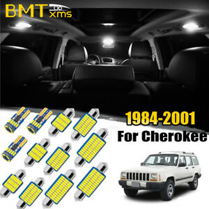 13x White Bulbs Interior Led Lighting Package Kit For Jeep Cherokee Xj 1984 2001