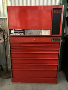 Large Red Snap On Tool Box And Cabinet Complete With Snap On Tools