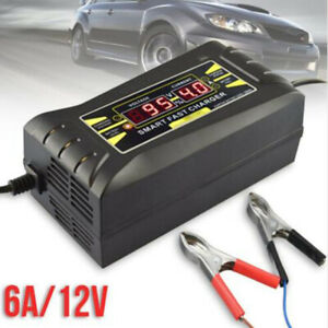12v 6a Automatic Fast Lead acid Battery Charger For Car And Motorcycle Lcd Us