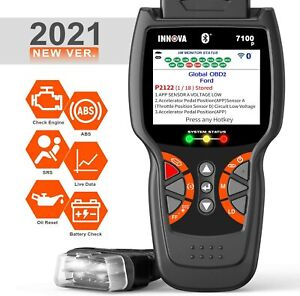 Innova 7100p Car Obd2 Scanner Code Reader Check Srs Abs Battery Diagnostic Tool