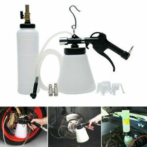 Air Pneumatic Brake Fluid Bleeder Tool With 4 Master Cylinder Adapters 90 120psi