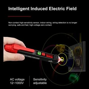 12 1000v Voltage Tester Pen Electric Volt Alert Detector Non contact Ac Sensor