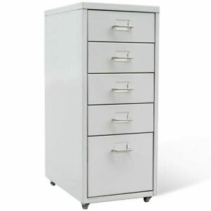 Us File Cabinet With 5 Drawer Steel 27 Gray Storage Organizer Container