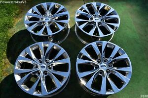 20 Ford F150 Oem Factory Lariat Pvd Chrome Wheels Expedition