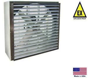 Exhaust Fan Industrial Explosion Proof 24 115 230v 1 Ph 5000 Cfm