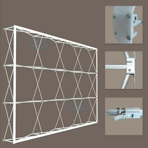 8x10 Trade Show Tension Fabric Booth Backdrop Frame With Custom Printing Graphic
