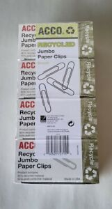 Lot Of 800 Acco Recycled Jumbo Paper Clips New Sealed Free Shipping