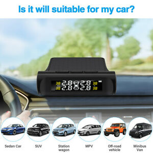 Car Tpms Auto Tire Pressure Temp Monitoring System With External Sensors