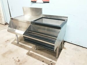 perlick Corp Undercounter Drainboard W 8 Lines Cold Plate Ice Bin Speed Rail