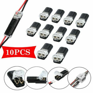 10x 2 Pin Way Plug Auto Waterproof Electrical Connector Wire Cable Automotive Us