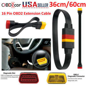 Us Obd2 Extension Cable 16pin Male To Female For Launch X431 V Thinkdiag Diagun
