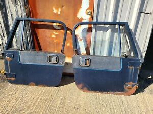 Jeep Wrangler Yj Cj7 76 95 Pair Full Hard Doors Door Set Black Doors