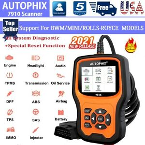 For Bmw mini Obd2 Scanner All System Code Reader Abs Tpms Dpf Srs Car Diagnostic