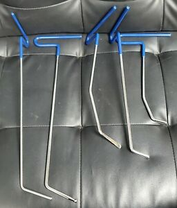 Pdr Paintless Dent Repair Push Puller Rods Steel Hail Damage Removal Kit