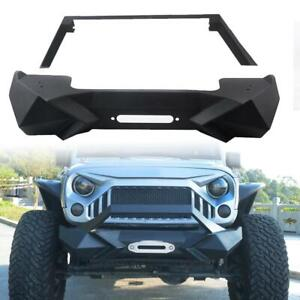 Front Bumper With Winch Plate For Jeep Wrangler Jk Unlimited 2007 2018