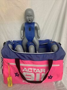 4x Actar 911 Infantry Cpr Mannequins Infant Dummy Training Cpr Duffle