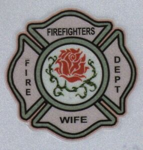 Maltese Cross Reflextive Decals For Helmet Firefighters Wife With Rose