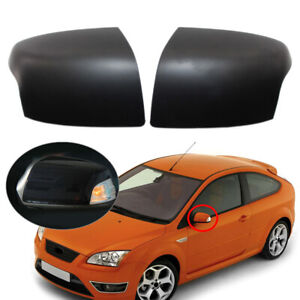 1 Pair Matte Black Rearview Mirror Cover For Ford Focus 2005 2008 2006 2007 Abs