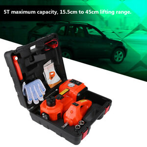 Car Suv Jacks Electric Hydraulic Floor Ss Air Inflator Pump Impact Wrench