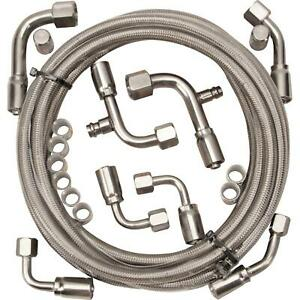 Gotta Show 343100 Braided Stainless Steel A c Hose Kit