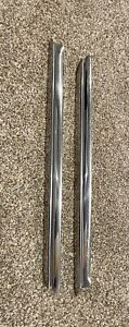 Pair Oem Buick Riviera 1963 1964 1965 Rear Quarter Window Stainless Trim Molding