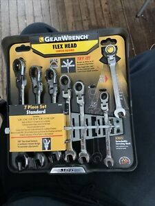 Gearwrench Sae Flex Head Ratcheting Wrench Set Without Retail Package