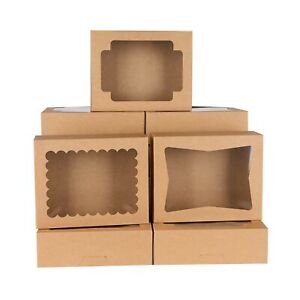 24 Pack Cookie Boxes With Window 8x6 5x2 5 Bakery Boxes For Cookies Pop up C