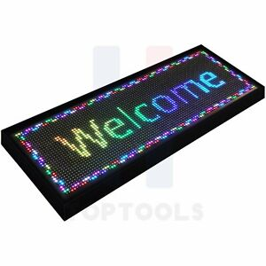Bright 40 x15 Led Wifi Programmable Scrolling Sign Display Neon Light Business