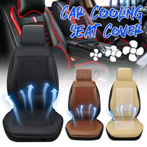4 Built in Fan Car Seat Cover Cushion Summer Cooling Chair Universal Auto Pad
