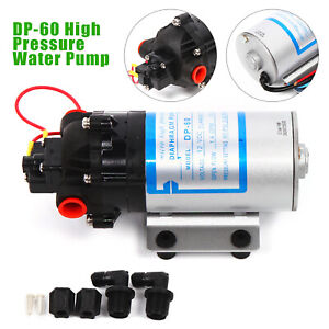 12v 40w Micro High Pressure Diaphragm Pump 0 c 60 1200 R Min Low Noise New