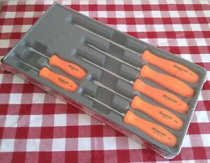 Snap On 7 Piece Combination Screwdriver Set Orange Hard Handle Sddx70a0 New