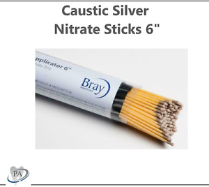 10 Silver Nitrate Sticks 6 Caustic Individual Sticks Double Dipped Exp 2025